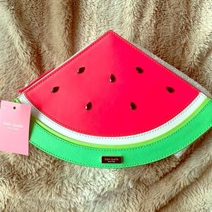 Kate Spade NWT Make a Splash Watermelon Clutch 😍
